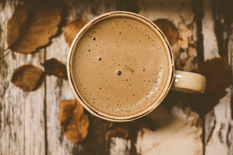 Tasse Cappuccino von oben