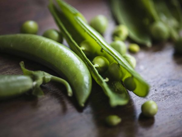 Fresh raw organic green peas