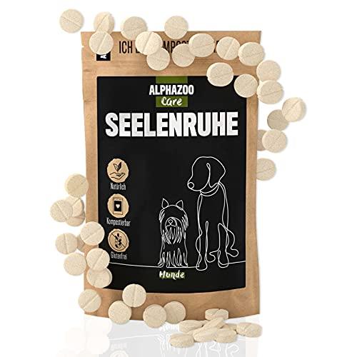 alphazoo seelenruhe 50 Tabletten   Beruhigungsmittel für Hunde mit Hanföl und Baldrian   gegen Stress und Angst   natürliche Entspannung für Hunde mit hoher Akzeptanz
