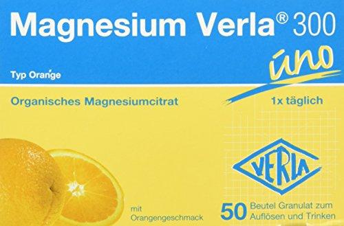 Magnesium Verla Granulat 300 mg orange , 50 Stück