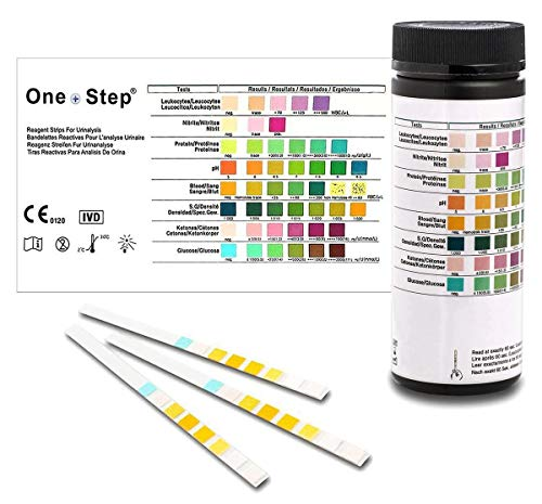 Gesundheitstest für 8 Indikatoren - 100 Urin Teststreifen mit Referenzfarbkarte