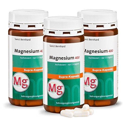 Magnesium-400-supra-Kapseln 360 Stück (3er-Bundle)